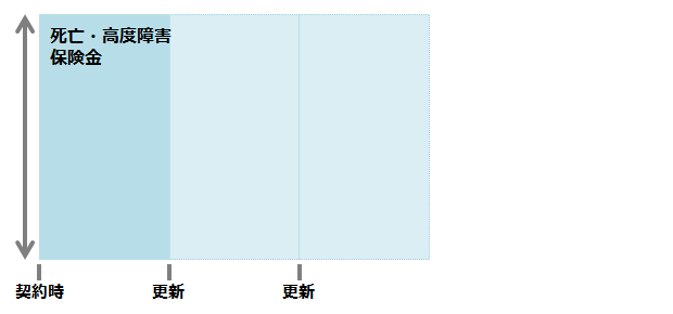 定期保険のイメージ図